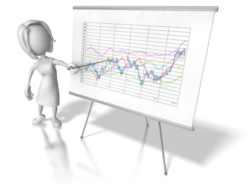 Clipart - Woman Chart Data Trend