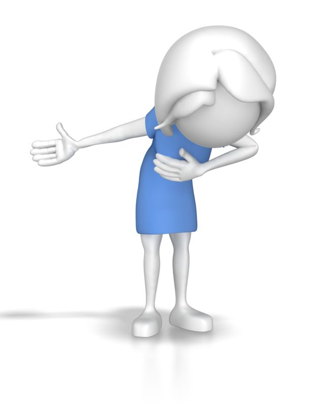 Clipart - Woman Taking A Bow