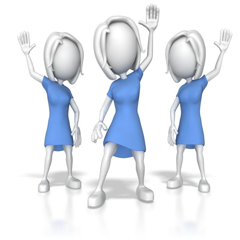 Clipart - Women Raising Hands