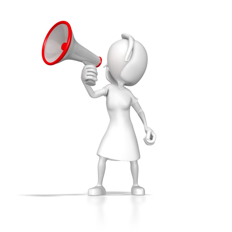 Clipart - Woman With Megaphone