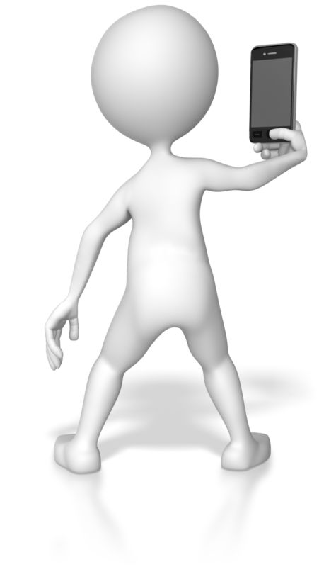 Clipart - Taking Picture With Smartphone