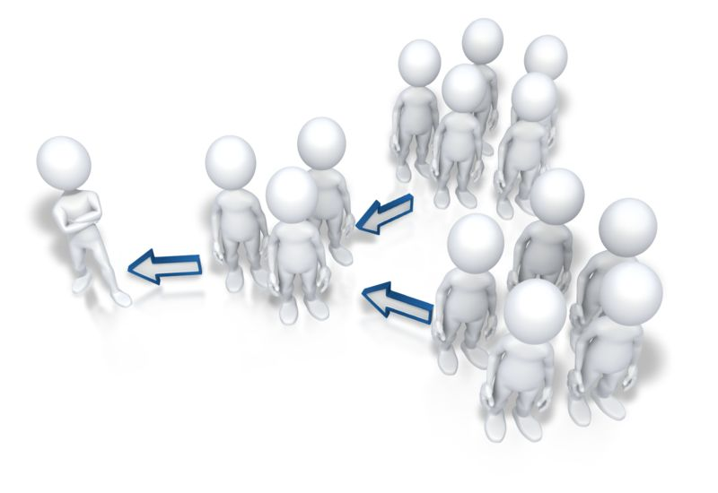 Clipart - Up The Chain Of Command