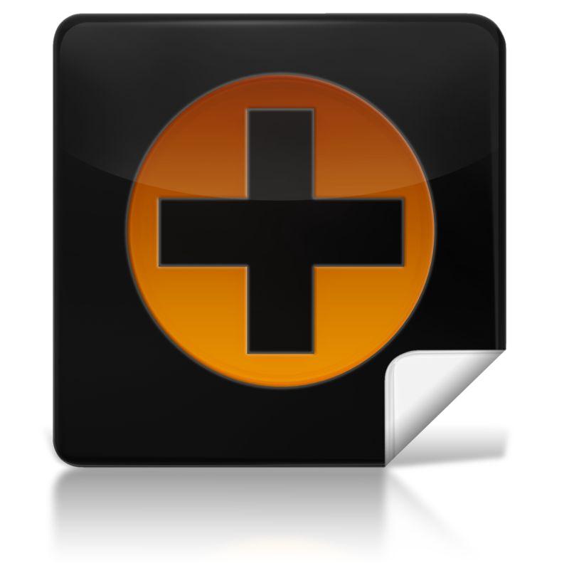 Clipart - Medical Plus Symbol Square Icon