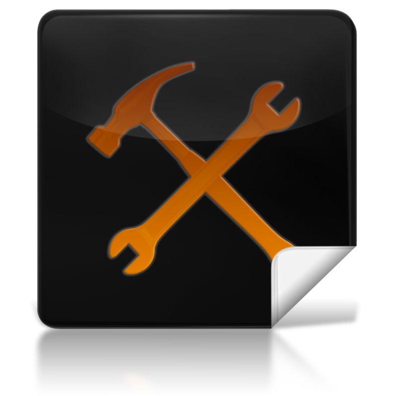 Clipart - Tools Square Icon