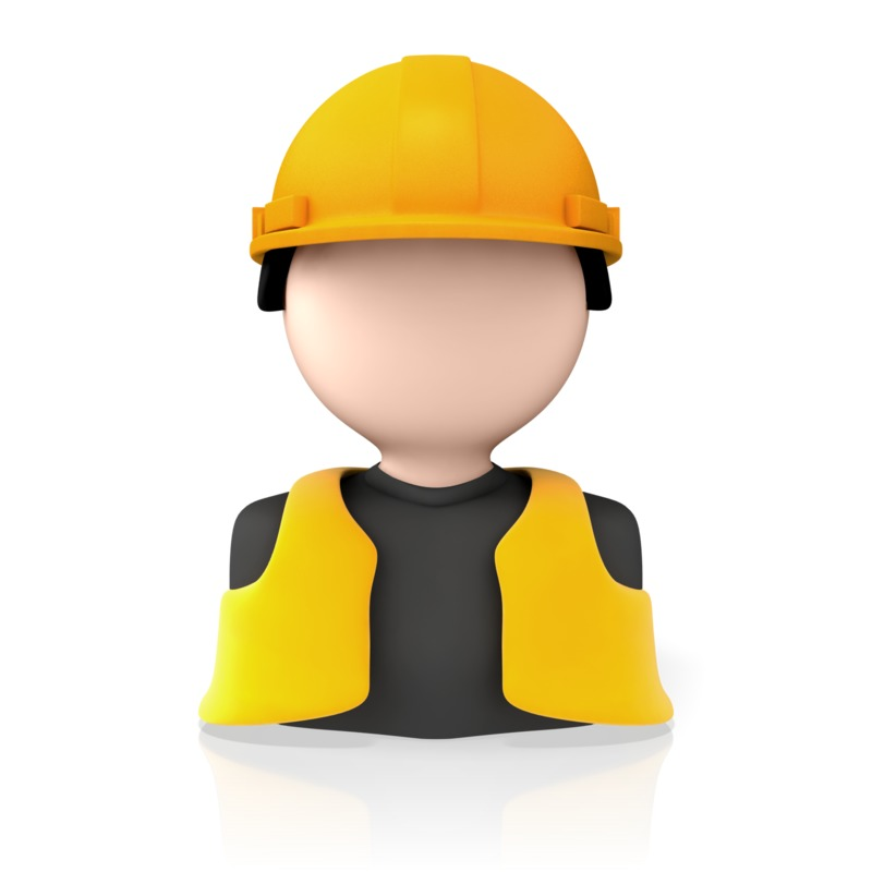 Clipart - Construction Worker Icon
