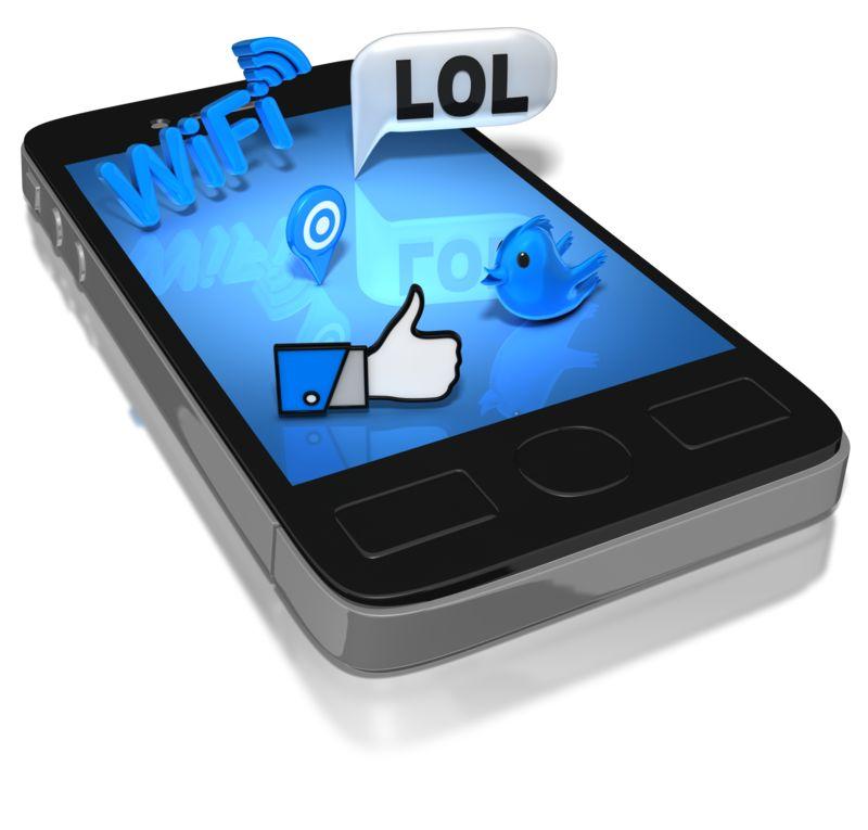 Clipart - Smart Phone Social Media