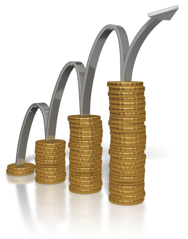 Clipart - Arrow Climbing Gold Coins