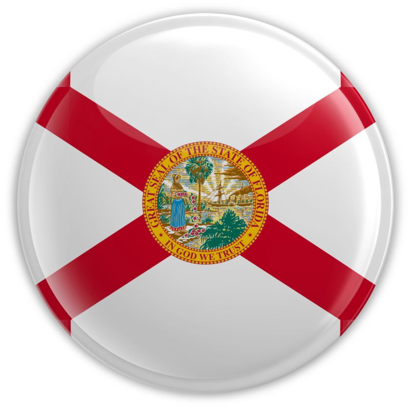 Clipart - Badge of Florida