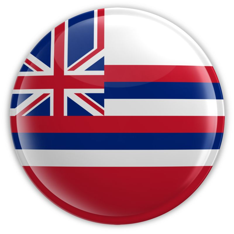 Clipart - Badge of Hawaii
