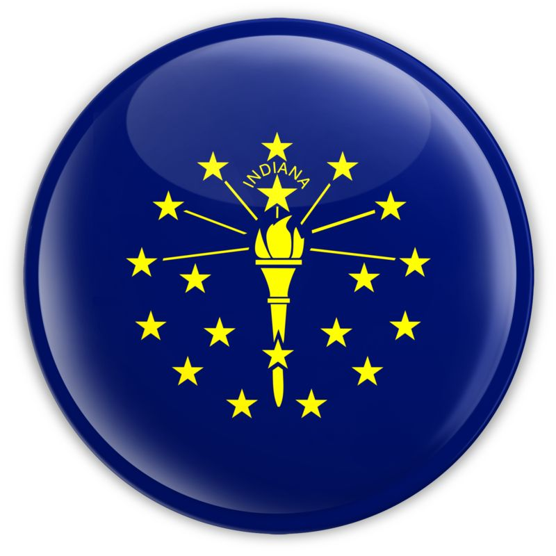 Clipart - Badge of Indiana
