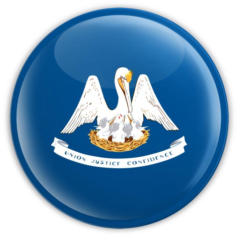 Clipart - Badge of Louisiana