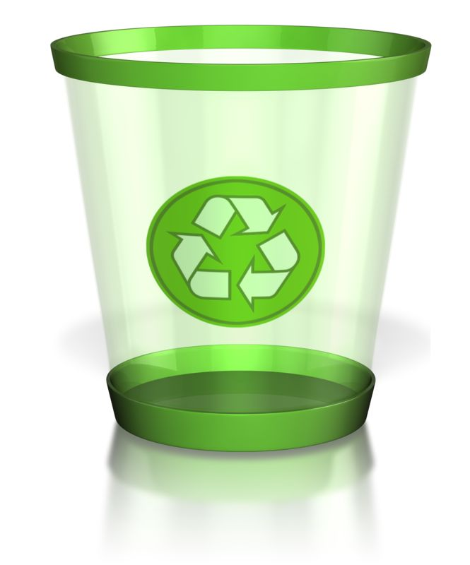 Clipart - Recycle Trash Can