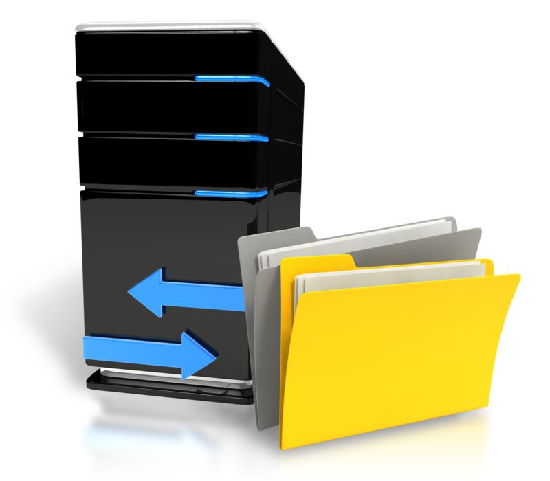 Clipart - Transfer Files Computer