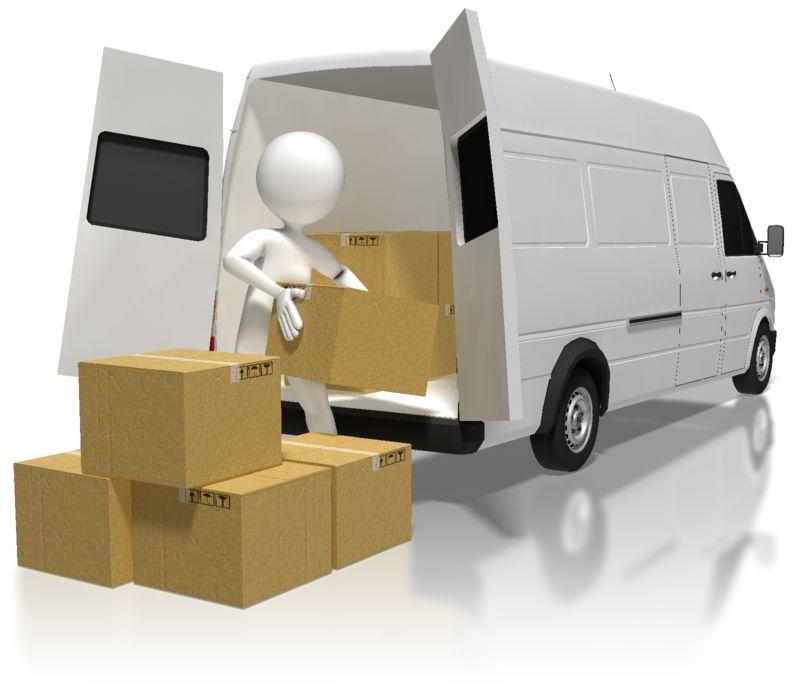 Clipart - Stick Figure Loading Boxes