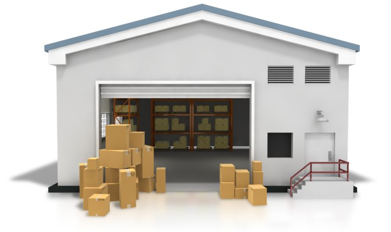 Clipart - Warehouse Boxes Stacked