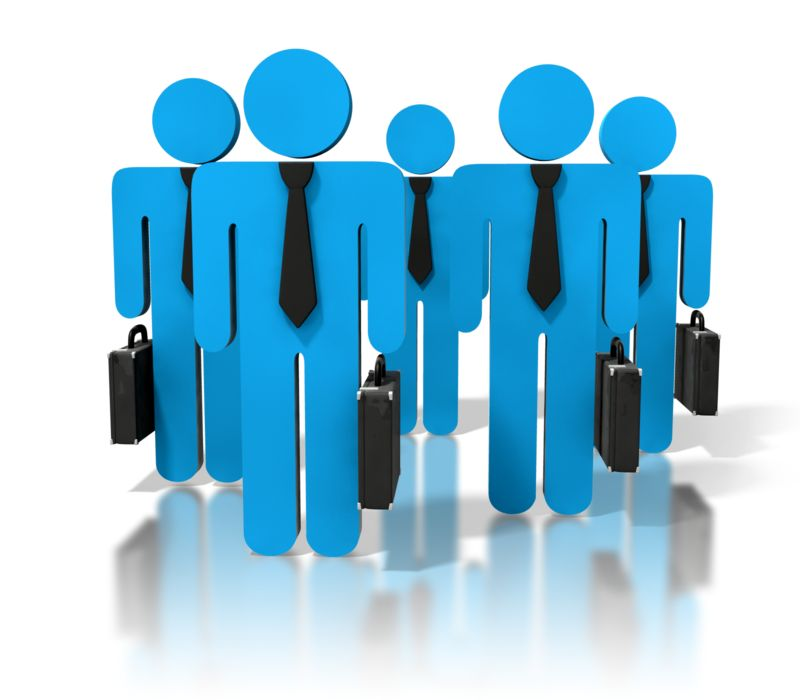 Clipart - Group Of Business People
