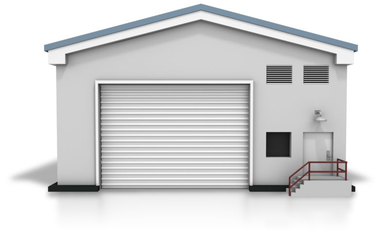 Clipart - Closed Warehouse