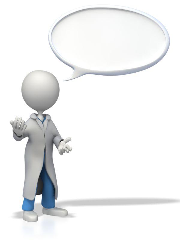Clipart - Doctor or Nurse Conversation Bubble