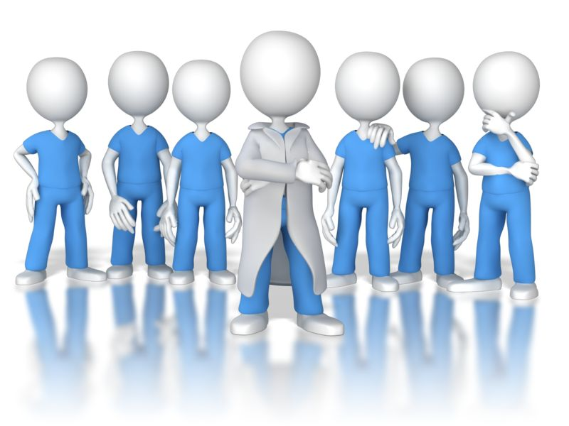 Clipart - Doctor or Nurse Leader of the Team
