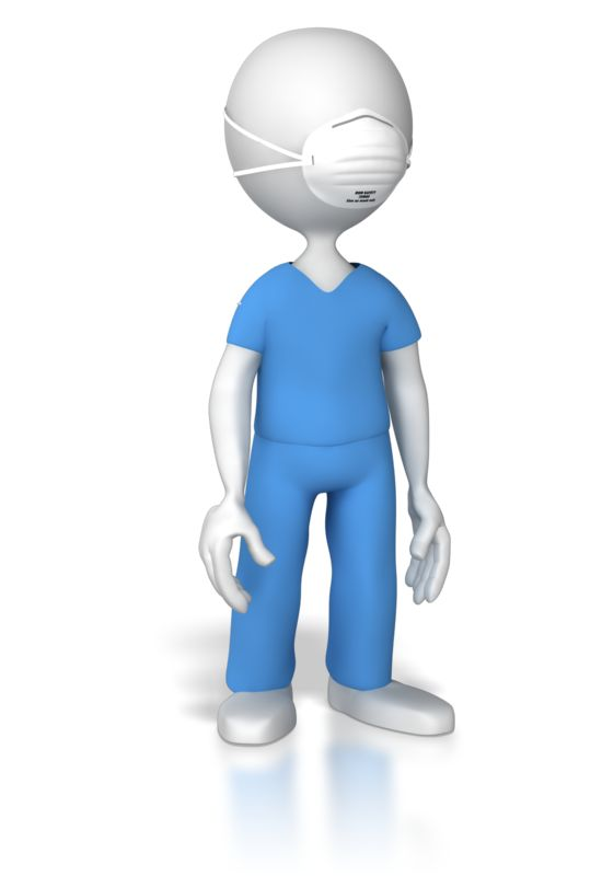 Clipart - Nurse or Doctor With Protective Mask