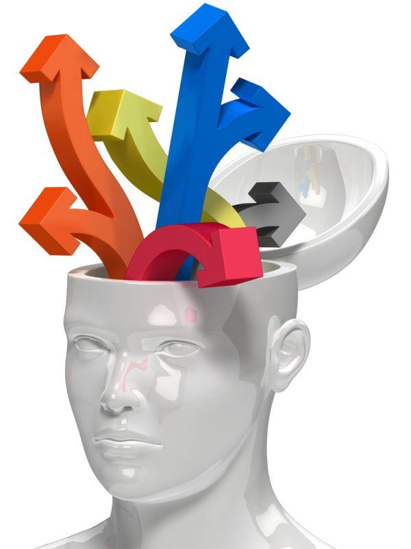 Clipart - Open Head Lots Of Ideas