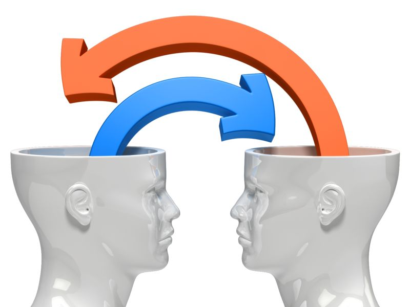 Clipart - Minds Sharing Ideas