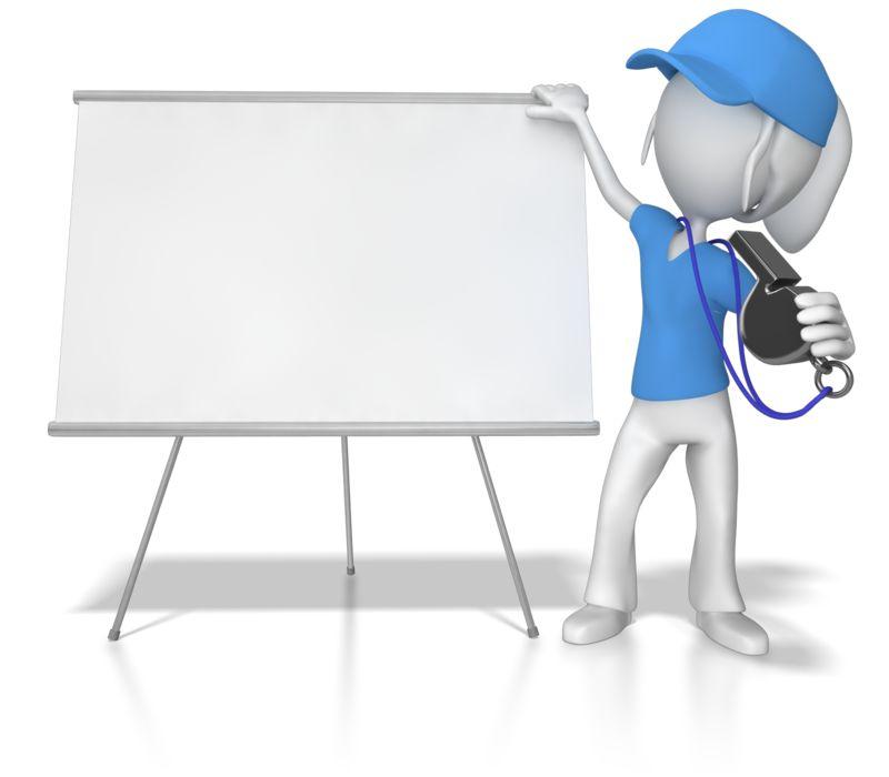 Clipart - Female Coach at Whiteboard