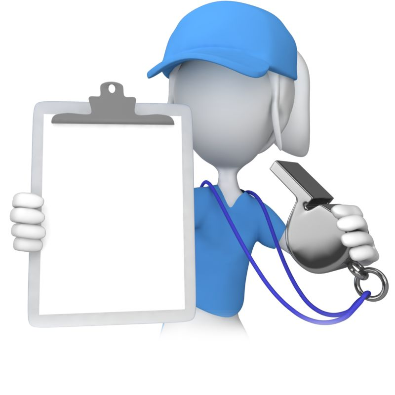 Clipart - Female Coach With Clipboard