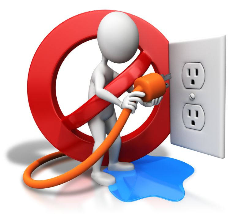 Clipart - Water Hazard Electrical Safety