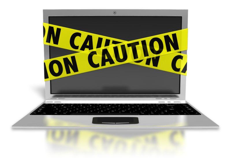 Clipart - Laptop Internet Safety