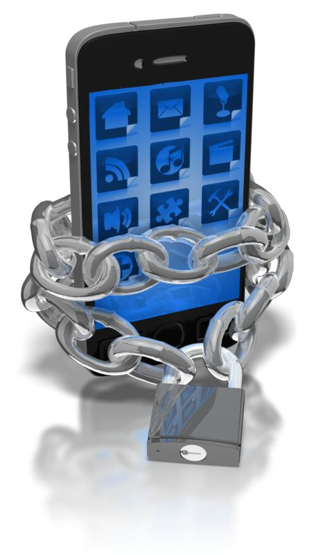 Clipart - Smart Phone Locked In Chains