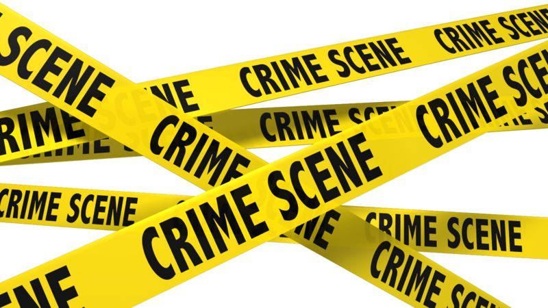 Clipart - A Wall Of Crime Scene Tape