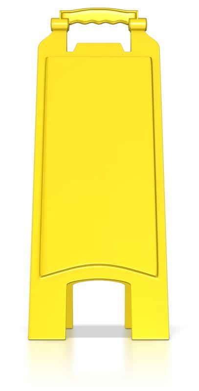 Clipart - Blank Floor Caution Sign