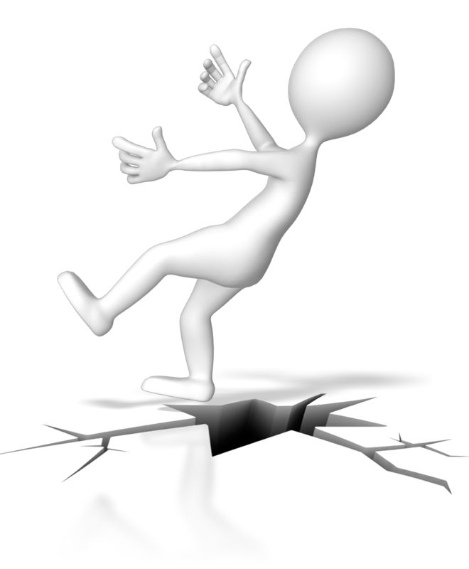 Clipart - Falling Down Crack