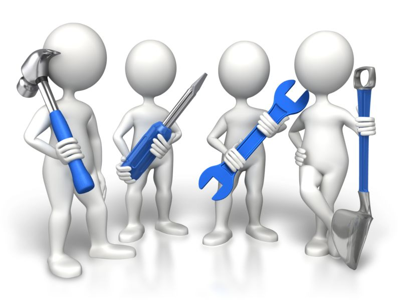 Clipart - Group Construction Workers