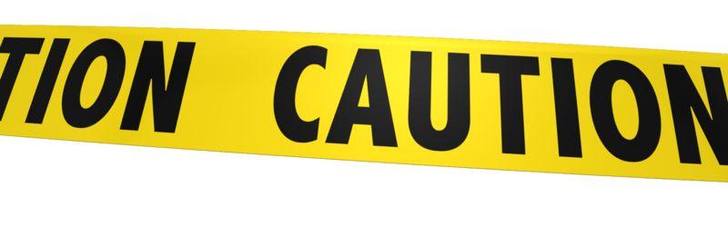 Clipart - Single Piece Of Caution Tape