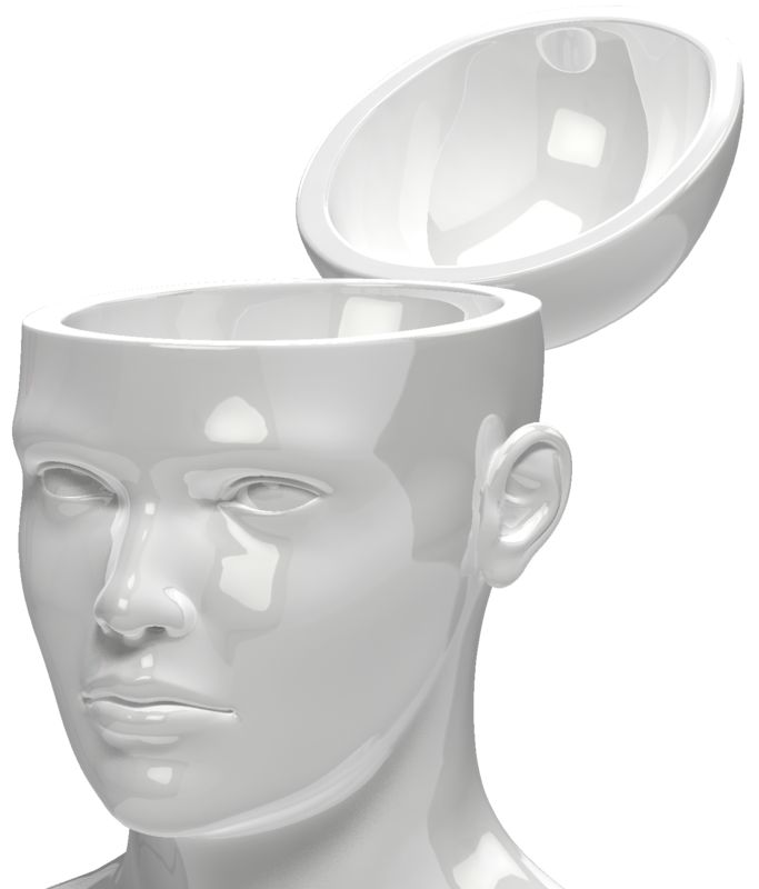 Clipart - Open Head Empty