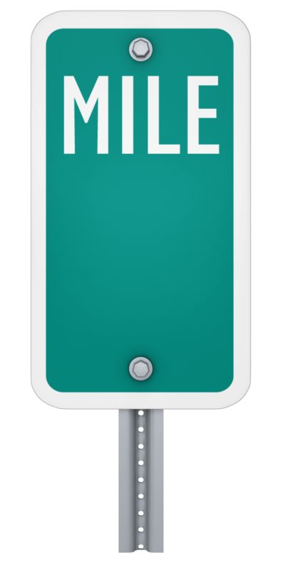 Clipart - Blank Mile Marker Sign