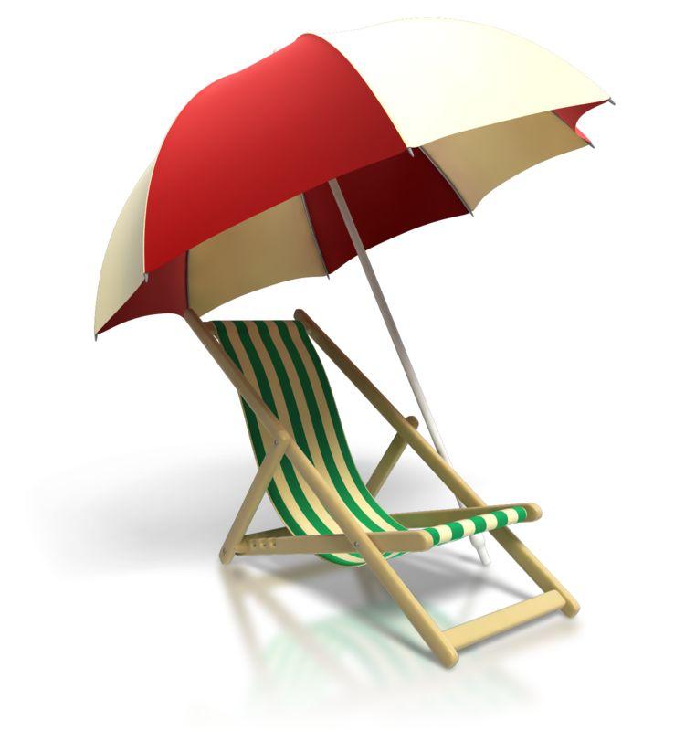 Clipart - Beach Chair Umbrella