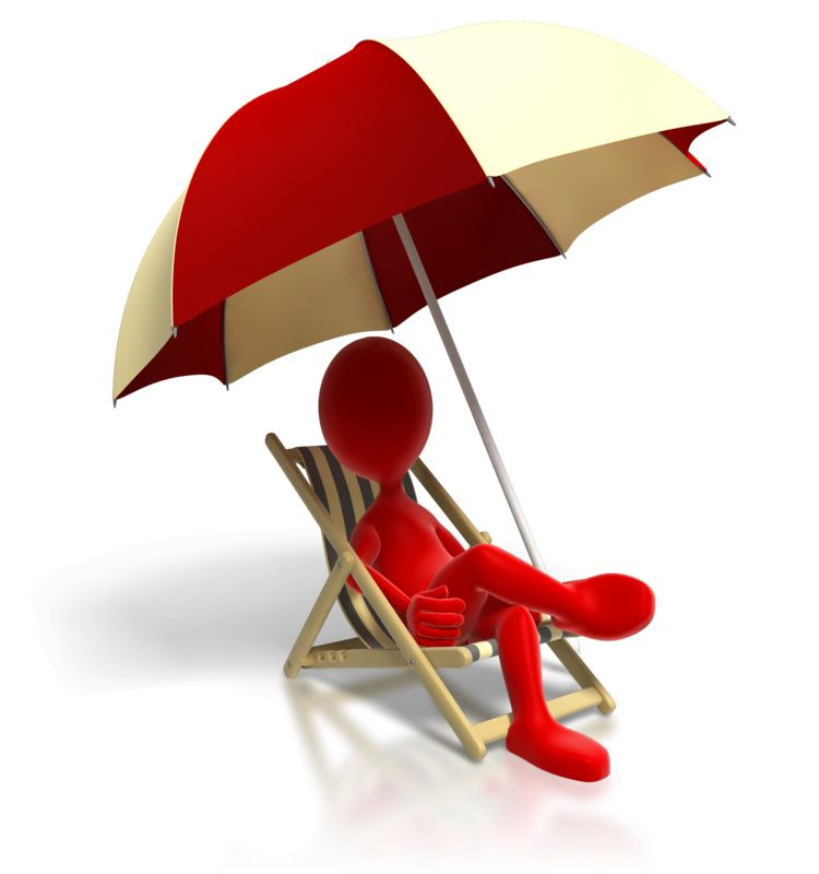 Clipart - Relaxing In Beach Chair