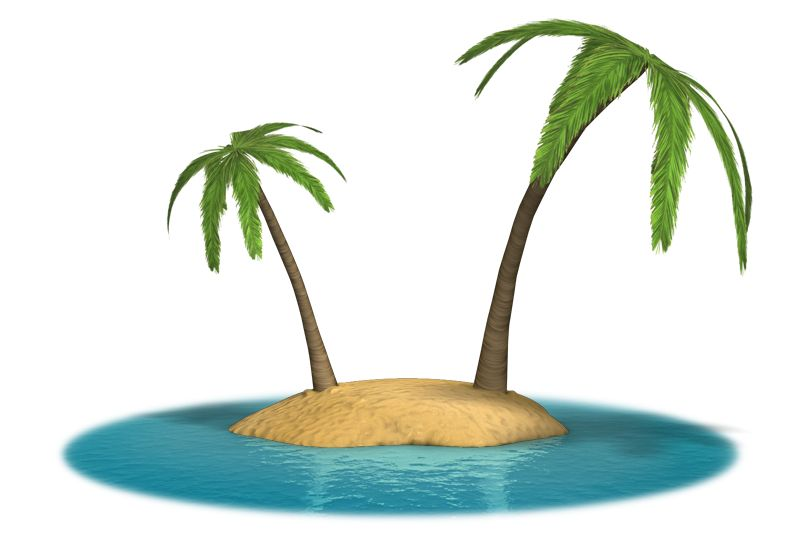 Clipart - Palm Island
