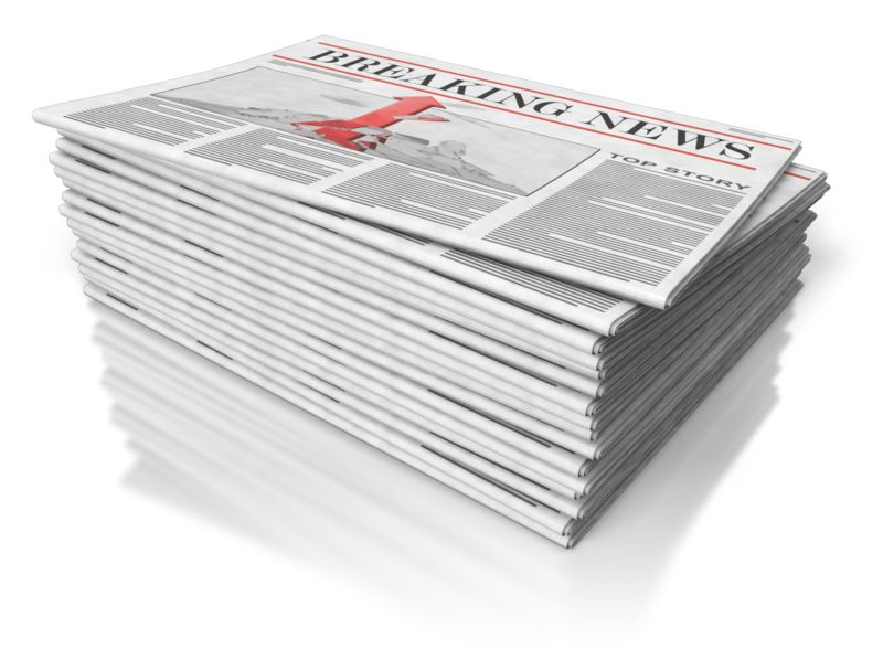 Clipart - Newspaper Stack
