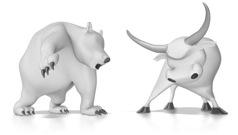 Clipart - Wallstreet Bear and Bull