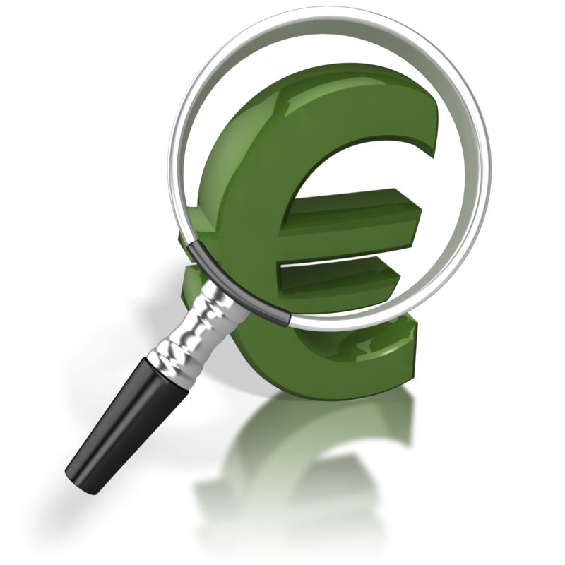 Clipart - Magnified Euro