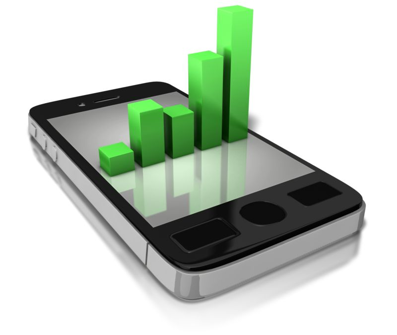 Clipart - Smart Phone Statistics