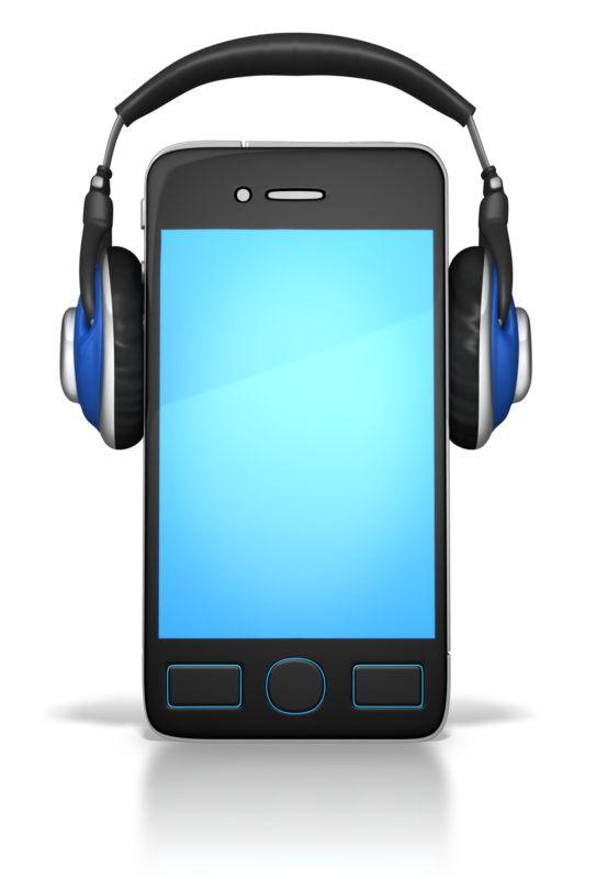 Clipart - Smart Phone Wearing Headphones