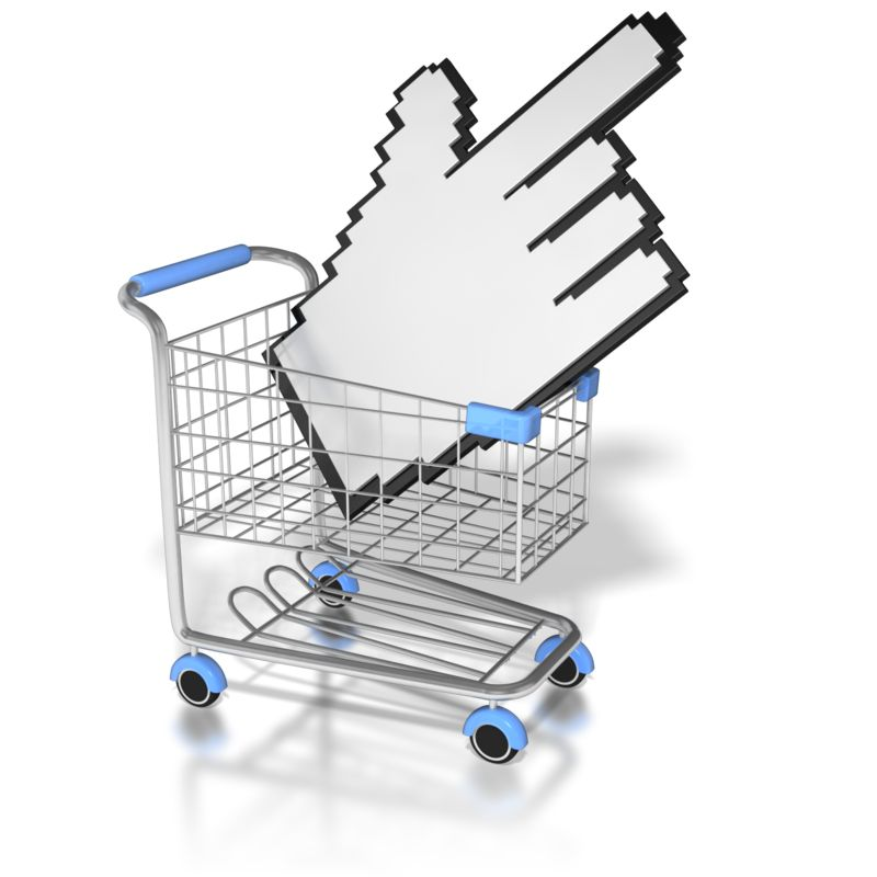 Clipart - Click On The Shopping Cart