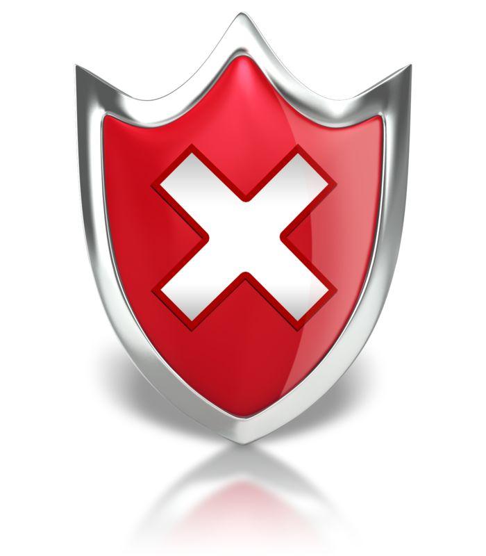 Clipart - Shield X Warning