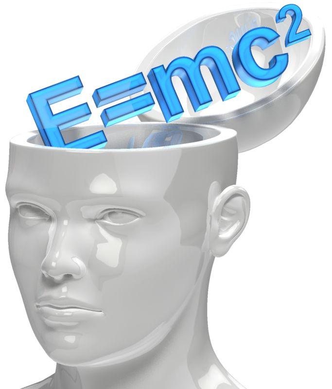Clipart - Open Head Einstein Formula