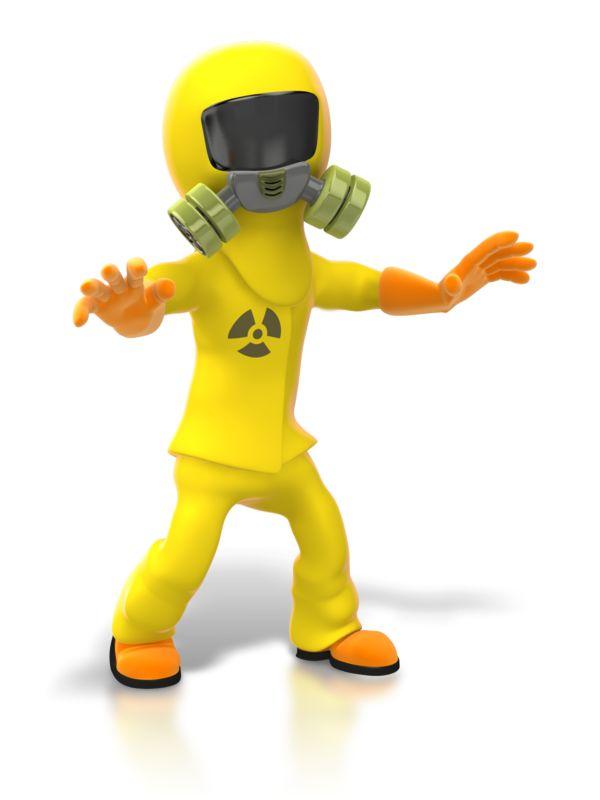Clipart - Radiation Expert Paranoid